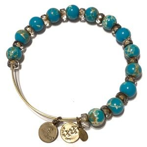 ALEX AND ANI Expandable Beaded Turquoise Bracelet